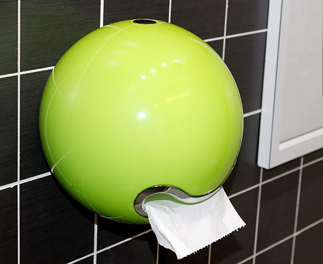 ロマンチックスラムありがたいクリエイティブトイレトイレトイレットペーパーボックスフリーパンチトイレットペーパーボックスペーパータオルボックスロール ( 色 : 緑 )