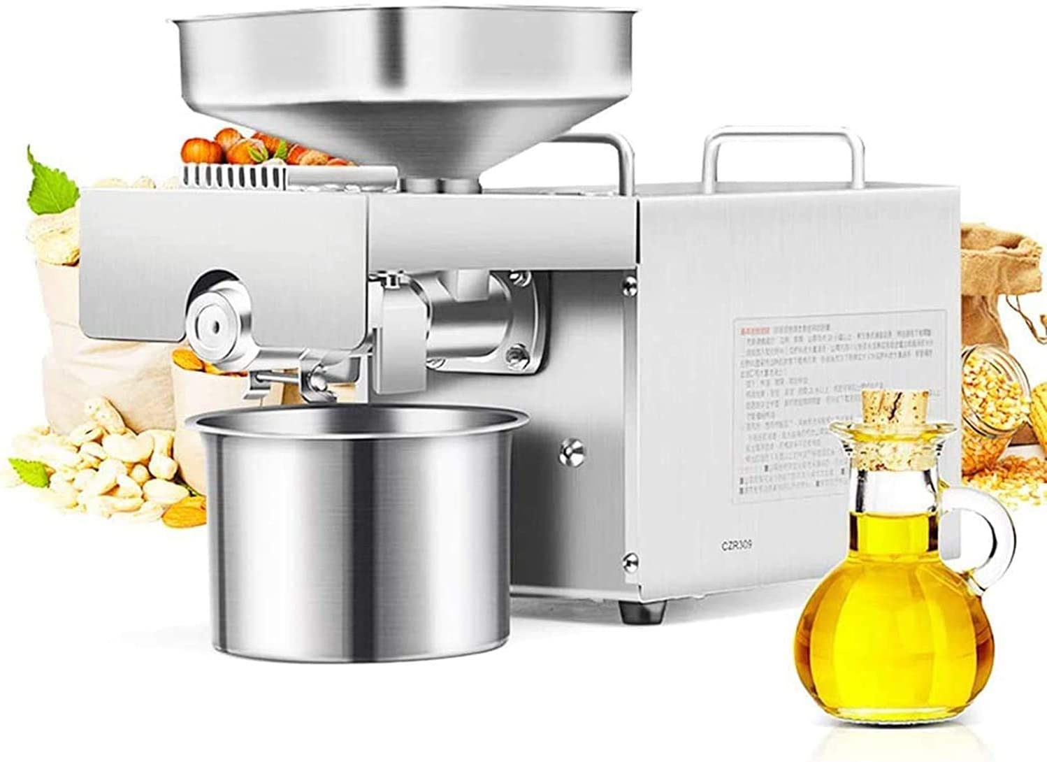 CGOLDENWALL 1500W Commercial Automatic Oil Press Tampa Mall New Shipping Free Shipping Machine Industr