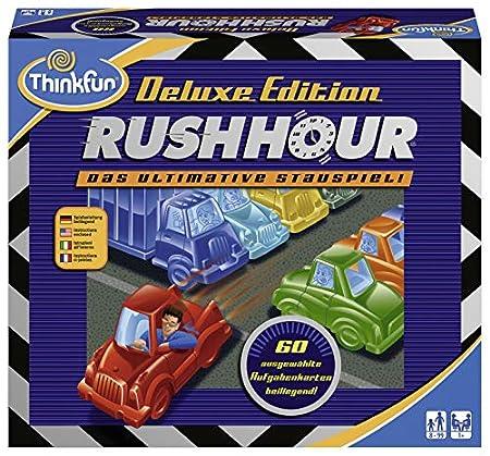 ThinkFun - Rush Hour - Deluxe Edition mit Fahrzeugen in Metalloptik