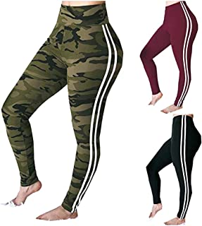 Women's Sexy Camouflage Tummy Control Yoga Stretch Sport Pants