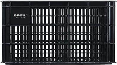 Basil Unisex - volwassenen Crate L fietskist voor de bagagedrager, zwart, 50 cm x 36 cm x 27 cm