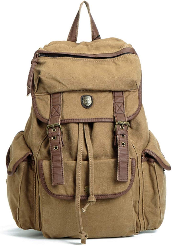 LFF.FF Leinwand Rucksack Student Bag Outdoor-Gro Kapazitt Reisetasche Mnner und Frauen Casual Bag
