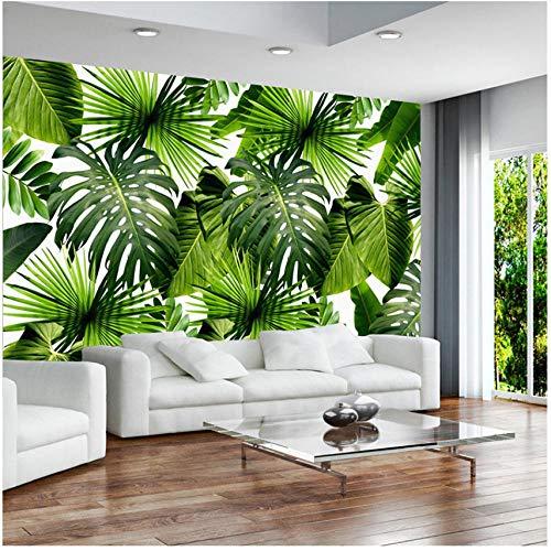 xbwy Custom 3D Mural Wallpaper Tropical Rain Forest Banana Leaves Photo Murals Living Room Restaurant Cafe Backdrop-150X120Cm