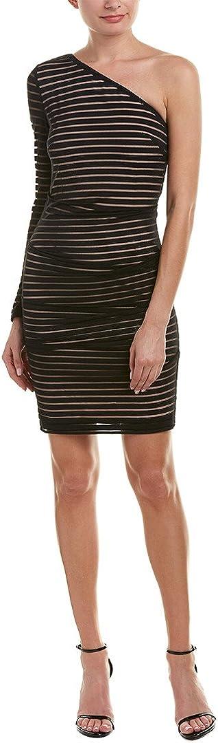 Nicole Miller Women's Stretchy Matte Jersey One Shoulder
