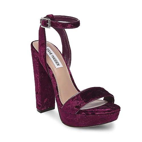 Burgundy Velvet Heels  Amazon.com 54aaa8ec4