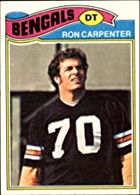 1977 Topps Football #168 Ron Carpenter Cincinnati Bengals Official NFL Trading Card. SCAN SHOWS ACTUAL FRONT AND BACK OF CARD YOU WILL RECEIVE