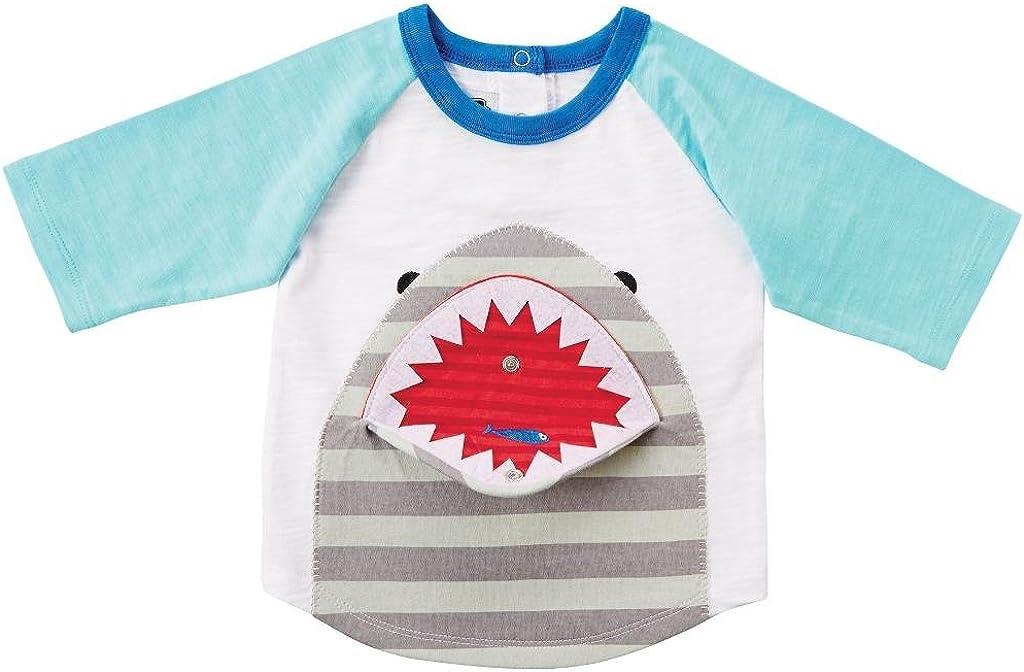 Mud Pie Little Boys Shark Snap-Mouth T-Shirt