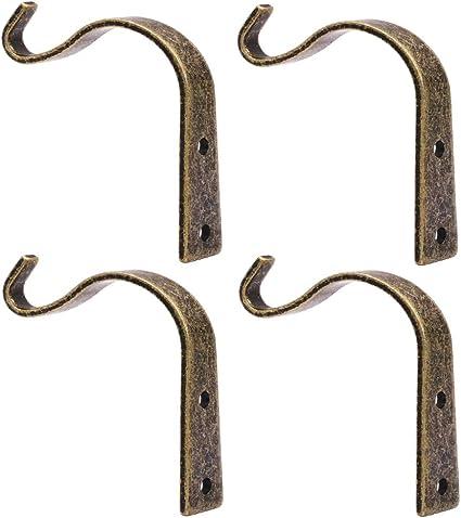 Amazon Com Iron Wall Hooks Metal Heavy Duty Plant Hanger Bracket Coat Hook Decorative Hook For Small Plants Hanging Lanterns Coat Hangers Hanging Home Decor Bronze 4 Pack Home Improvement