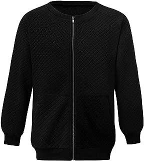 TTOOHHH Men Warm Winter Long Sleeve Zipper Pullover Pockets Sweatshirt Top Outwear
