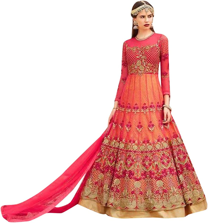 Designer Embroidery Pink Salwar Kameez Festival Wedding Indian Muslim Ethnic 7235