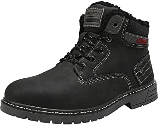 Stivali da Neve Uomo Inverno Pelliccia Caloroso Scarpe Antiscivolo Outdoor Sportive Escursionismo Boots