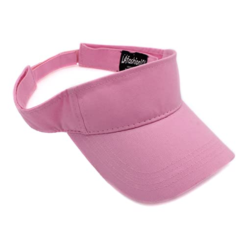 b1400fe660f LAfashion101 Sun Sports Visor Hat Cap - Classic Cotton for Men Women