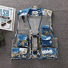 FEVIJNB Jachtvest zomervest mannen sneldrogend netvest fotografie vest jagers mouwloze jas camouflage kleding XL Hai Jun LAN