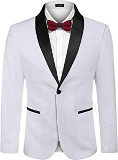 Coofandy Men's Modern Suit Jacket Blazer One Button Tuxedo for Party,Wedding,Banquet,Prom