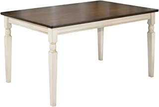 Ashley Furniture Signature Design - Whitesburg Rectangular Dining Room Table - Casual Style - Brown/Cottage White