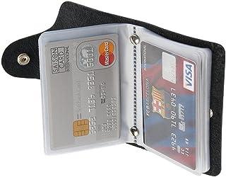 REALMAX Business Card Holder 24 Slots Black Men | Luxury Soft PU Leather Plastic Sleeves Credit Debit Visiting | Wallet Ca...