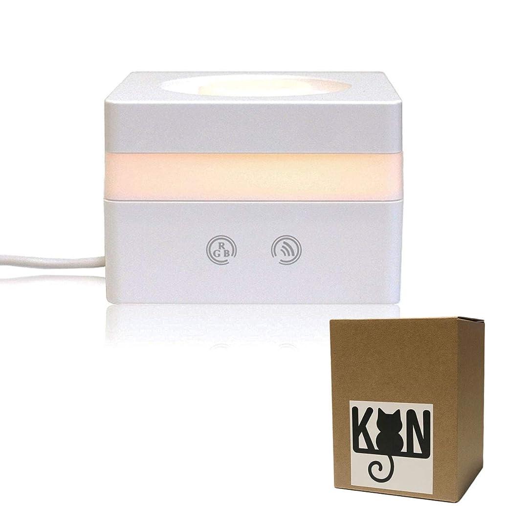 極めて重要な怪しい砂利KON アロマディフューザー 超音波式 アロマ加湿器 卓上 アロマ ムードランプ 七色変換LEDライト USB給電式 空焚き防止機能 卓上加湿器 キューブ型