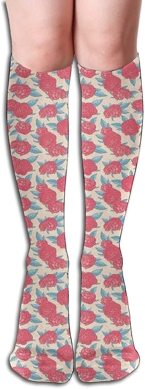 25% OFF Spasm price Compression High Socks-Valentines Day Rose Composition Style Lov