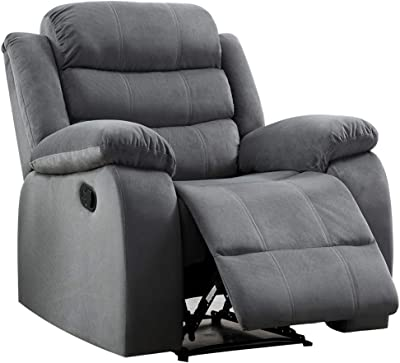 Christies Home Living Living Room Upholstered Power, Reclining Chair, Grey