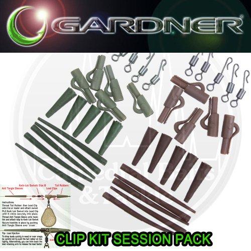 Gardner Tackle Clip-Set, Tarnmuster c-thru, grün