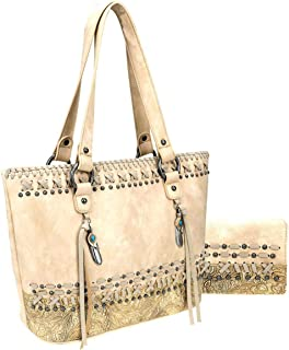 Carry Feather Charm Tote + Wallet - 3 Colors