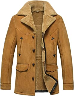 Men's Sheepskin Shearling Jacket Coat Patent Design CW890056