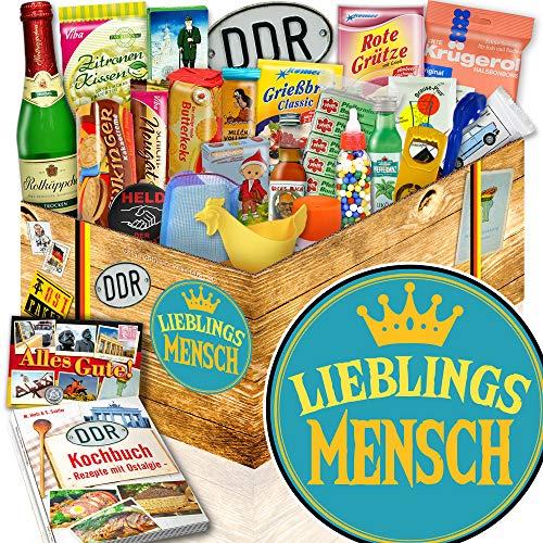 Lieblingsmensch | DDR Geschenk | 24tlg. Geschenkbox mit Ost Spezialitäten