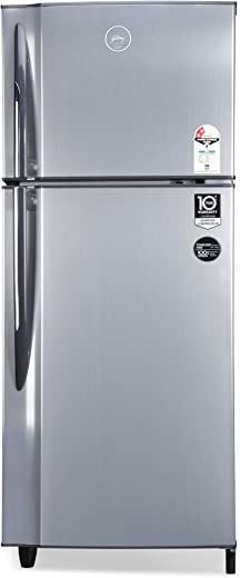Godrej 236 L 2 Star Inverter Frost-Free Double Door Refrigerator with jumbo vegetable tray (RF EON 236B 25 HI SI ST, Stainless Steel) 1