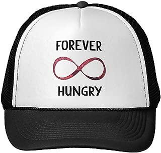 Funny Forever Hungry Trucker Hat Baseball Mesh Caps Black