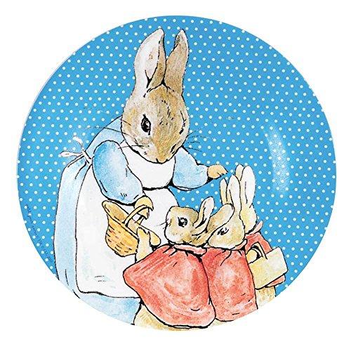 Petit Jour Paris Assiette Peter Lapin bleu en mélamine 20 cm – Assiette pour enfant assiette en mélamine Assiette pour bébé Assiette multicolore vaisselle pour enfant sans BPA