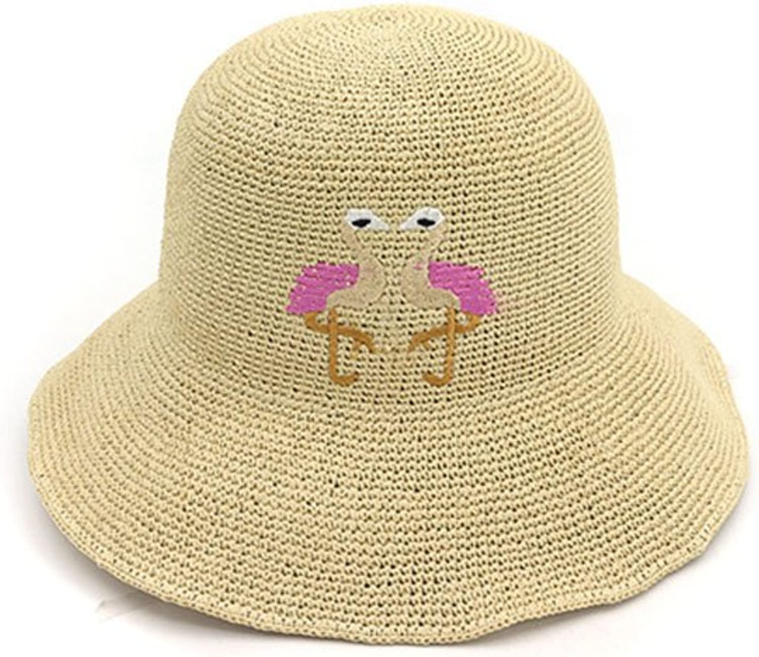Trendy Mens Womens Unisex Cotton Trilby Hat with European and American Foreign Trade Spring and Summer Female Sun Predection Sun Straw Hat Korean Style Basin Cap Collapsible Fisherman Hat (color   D)