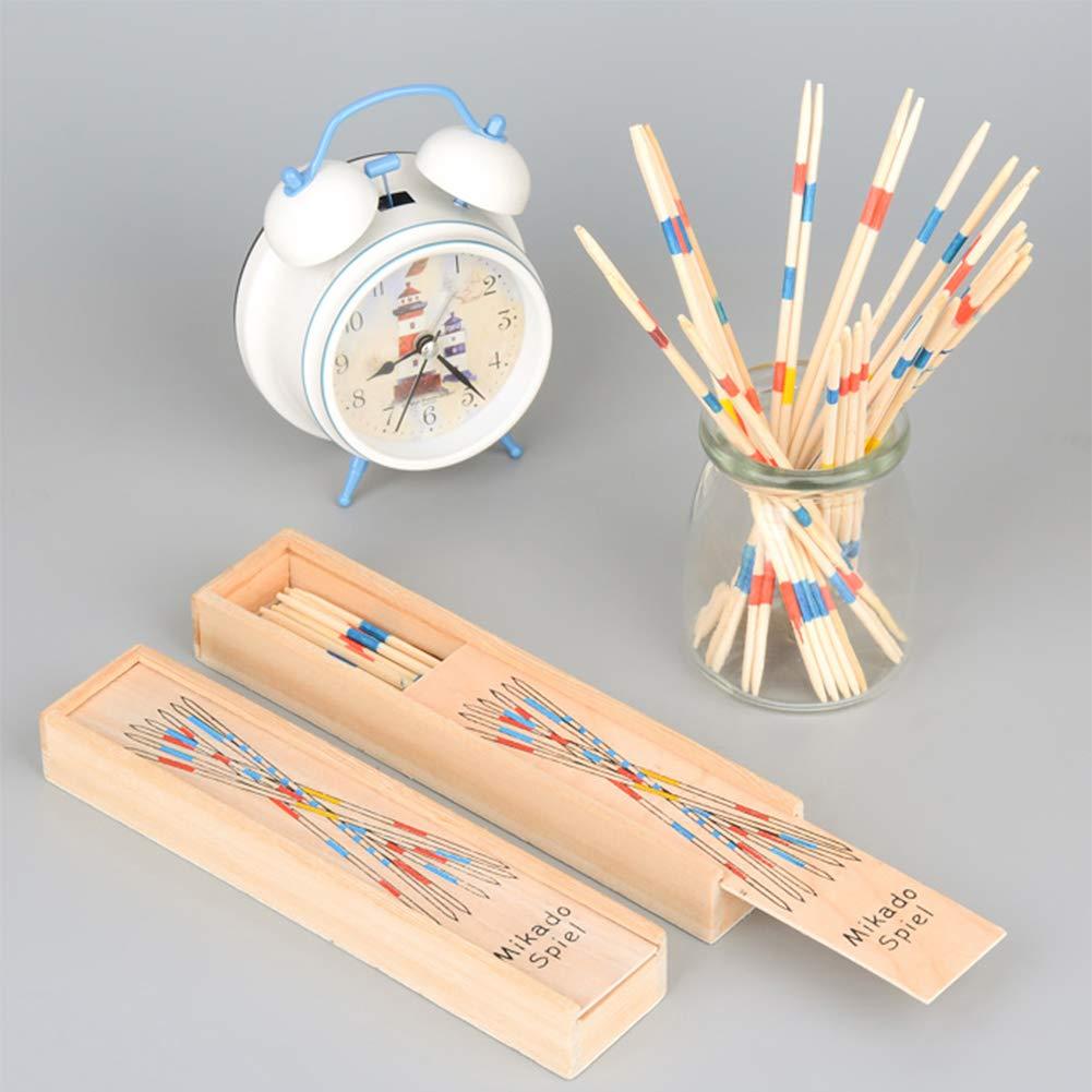 BESTZY 155pcs Mikado Juego de Mesa con Caja de Madera Sticks