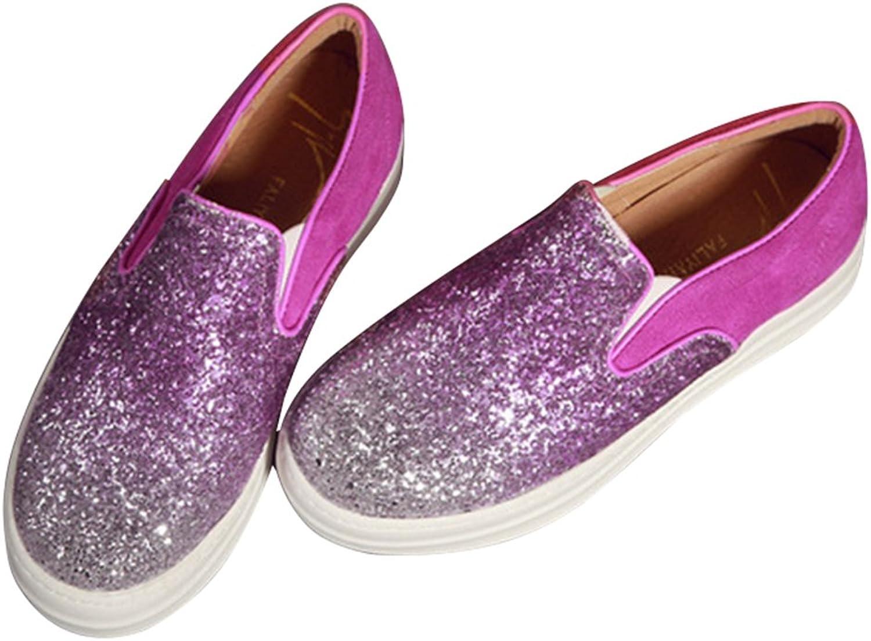BININBOX Women's Fashion Glitter Slip-On Sneaker