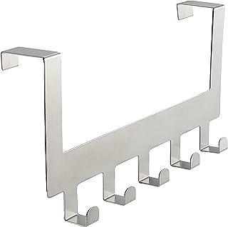 SKYFUN (LABEL) Stainless Steel 5 Hook Organizer Hanging Rack Towel Coat Hanger-Silver