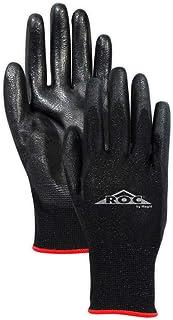 MAGID Safety GP1807 Ultra-Lightweight Polyurethane Palm Coated Work Glove, Size 7, Black  (12 Pair)