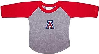 University of Arizona Wildcats Baby and Toddler 2-Tone Raglan Baseball Shirt