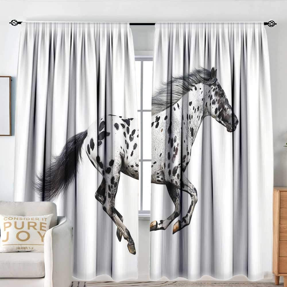 Bedroom Sacramento Mall Curtains List price Horse Decor Appaloosa Stallion Powerful Gracefu