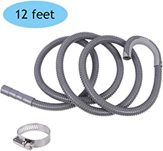 ALXEH Universal Washing Machine Extension Drain Hose 12ft, Extra Long Washer Discharge Drain Hose, Fits Up to 1-1/4 Inch Drain Outlet