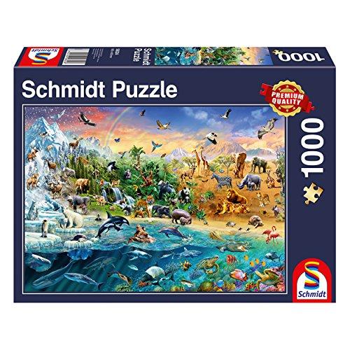 Schmidt Reino Animal Premium Calidad–Puzzle (1000Piezas)