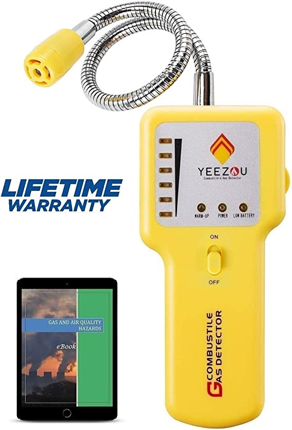 Y201 Propane and Natural Gas Leak Detector; Portable Gas Sniffer to Locate Gas Leaks of Combustible Gases like Methane