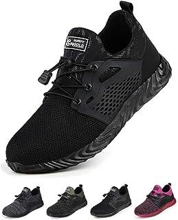 Tqgold Zapatos de Seguridad para Hombre Mujer Zapatillas de Trabajo con Punta de Acero Ligero Transpirable y Antideslizant...