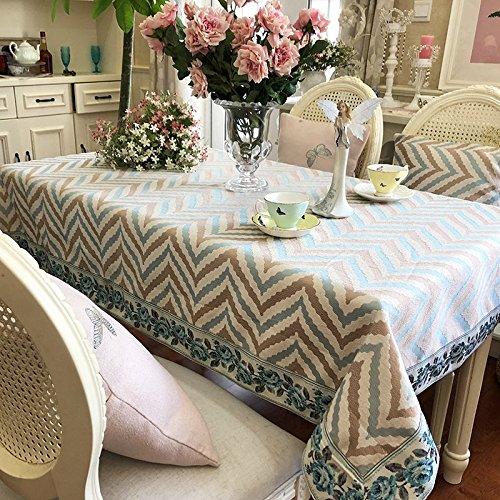 LIXIN XIAOWU Nappes Rayures Jacquard Fashion Rectangulaire Table À Manger Table en Tissu Tissu,130 * 130CM