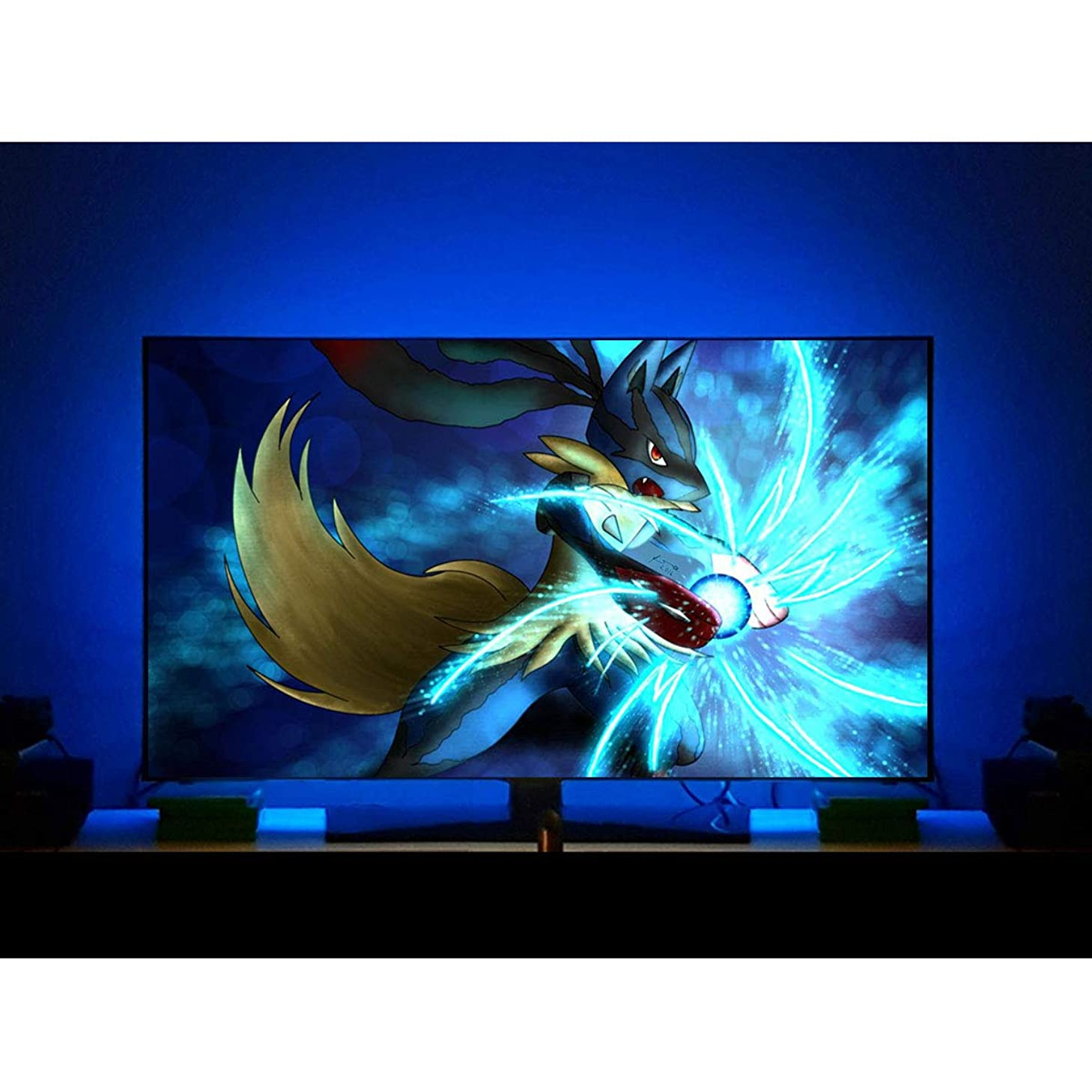 LED Backlight for 32 43 50 55 60 Inch TV Bias Lighting, USB LED Light Strip Home Theater Ambient Light, 16 Colors, 4 Dynamic Modes, 8.2 Feet