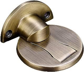 Mintuse Floor Door Stop, Stainless Steel Door Stopper Punch Free, Invisible Door Holder Stopper Wall Mounted Door Safety Catcher (F, 2Pcs)