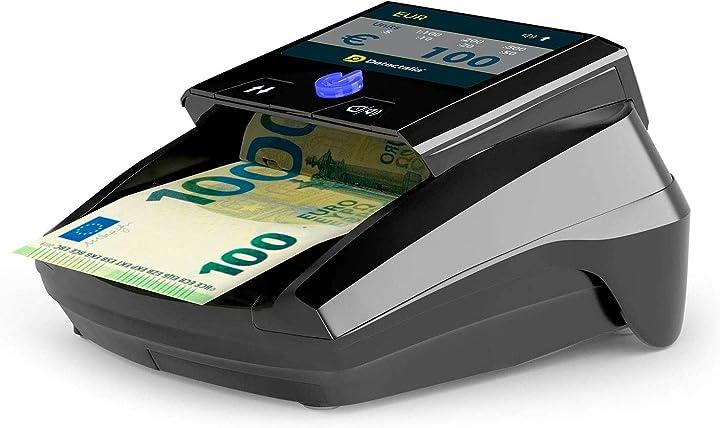 Rilevatore di banconote false con 7 controlli di contraffazione e affidabilità al 100% detectalia d7 tft 7-EU-US