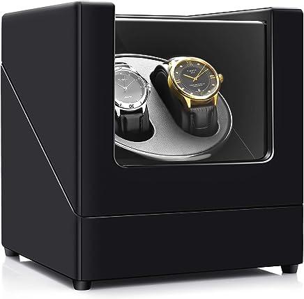 ASITA ワインディングマシーン  高級2本巻き収納ケース ス木製ピアノ調塗装鏡面仕上げ時計自動巻きレディース、メンズ時計対応