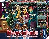 Kosmos Die drei !!! Adventskalender 2020, Lüfte das Geheimnis der wandernden Kuscheltiere, mit 24 Detektiv-Gimmicks, Spielzeug-Adventskalender für Kinder ab 8 Jahre