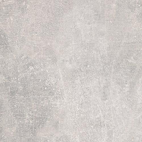 BODENMEISTER BM73340 Klick Laminat-Boden Steinoptik, rundum gefast 4 V-Fuge, Betonoptik Sicht-Beton hell-grau, 605 x 282 x 8 mm