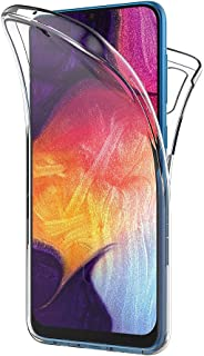AICEK Compatible Samsung Galaxy A50 Hülle, 360°Full Body Transparent Silikon Schutzhülle für Samsung A50 Case Durchsichtige TPU Bumper Galaxy A50 Handyhülle (6,4 Zoll)