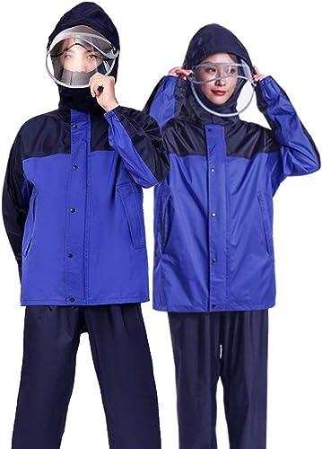 Duanguoyan Imperméable- Veste Double imperméable pour Hommes et Femmes (Couleur   noir rouge, Taille   M)